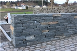 15 – 30 cm deep: Mostly used for facade stone outside, for double walls and support walls up to 1,5 m high - Built by Gravdal Hage og Anlegg AS